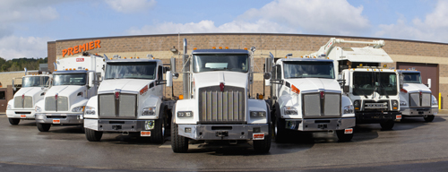 Premier's Rental Fleet of Roll Off, Garbage and Vocational Work Trucks